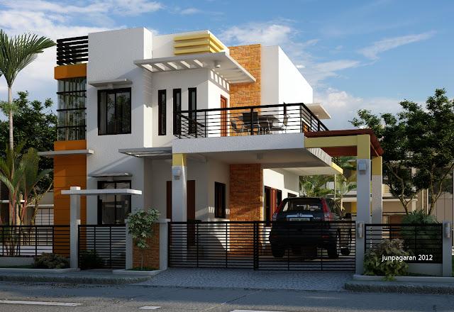 Rumah Minimalis Modern 2 Lantai Di Lahan Sempit Desain Rumah