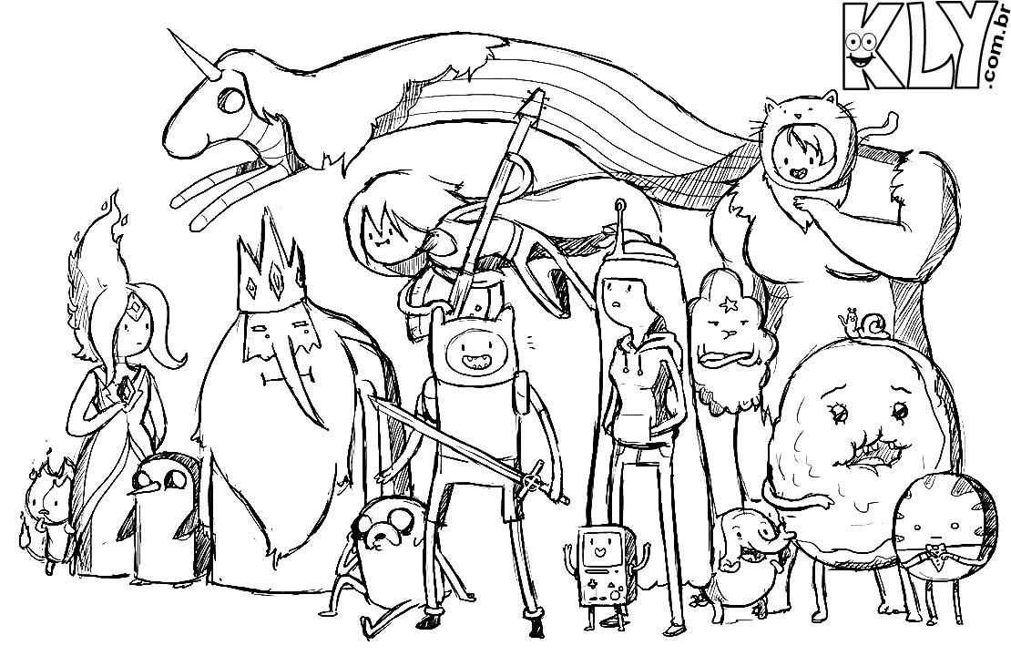 adventure time covers coloring pages - photo#5