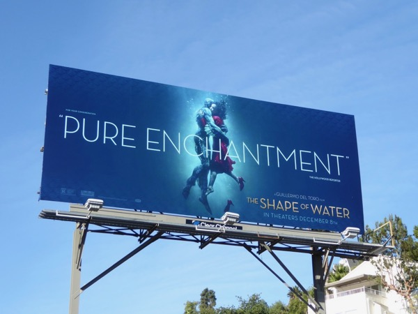 Shape of Water movie billboard