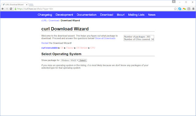 Jan David Narkiewicz (Developer): CURL for Win64: Download