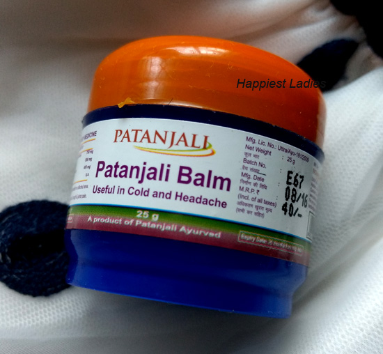 Patanjali Balm - Ayurvedic product for Cold and Headache