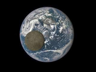 moon tranversing earth