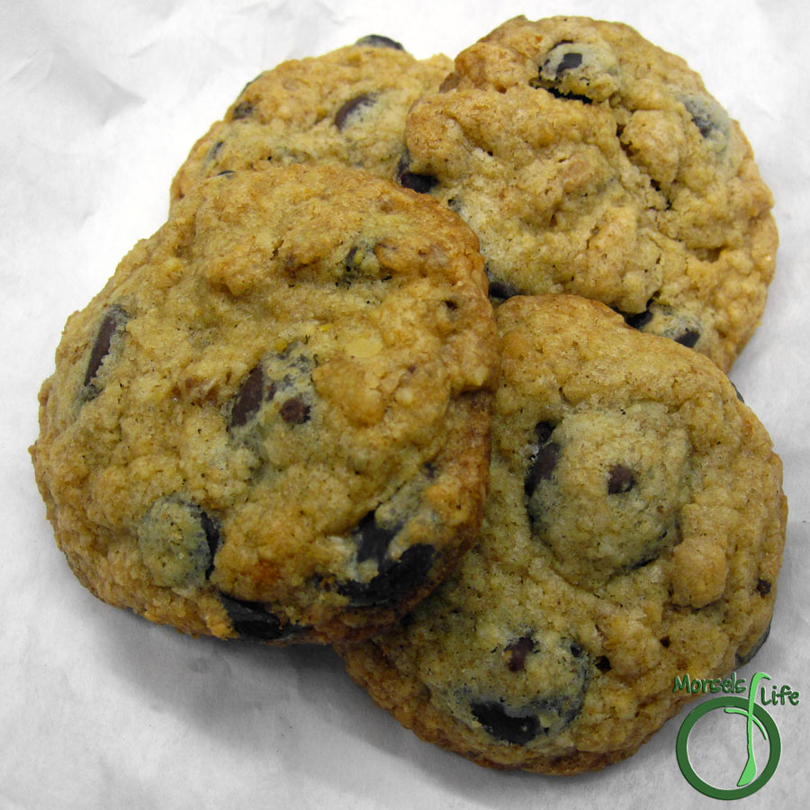 Morsels of Life - Chocolate Chip Oatmeal Crunch Cookies - Chocolate chip oatmeal cookies with surprising bits of crispy crunch mixed in.