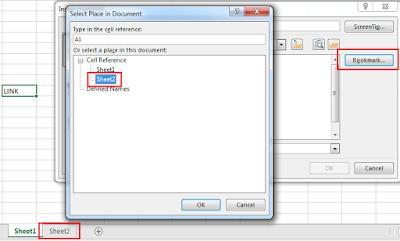 Excel'de Sayfalar Arası Link Vermek