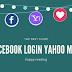 Yahoo Login Facebook Login