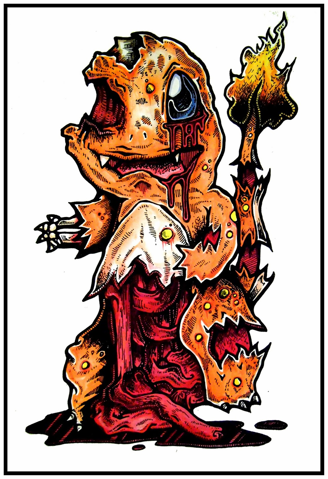 My Favourite Zombie Pokemon Drawings Daryl Hobson Artwork