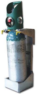 "Zico Strapless ""D"" Cylinder Bracket for All-In-One Regulators"