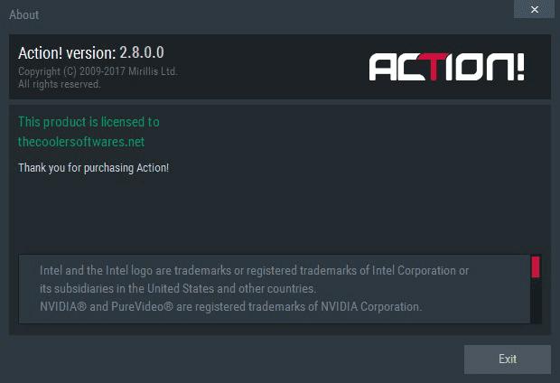 Mirillis Action 2.8.0 Serial Key