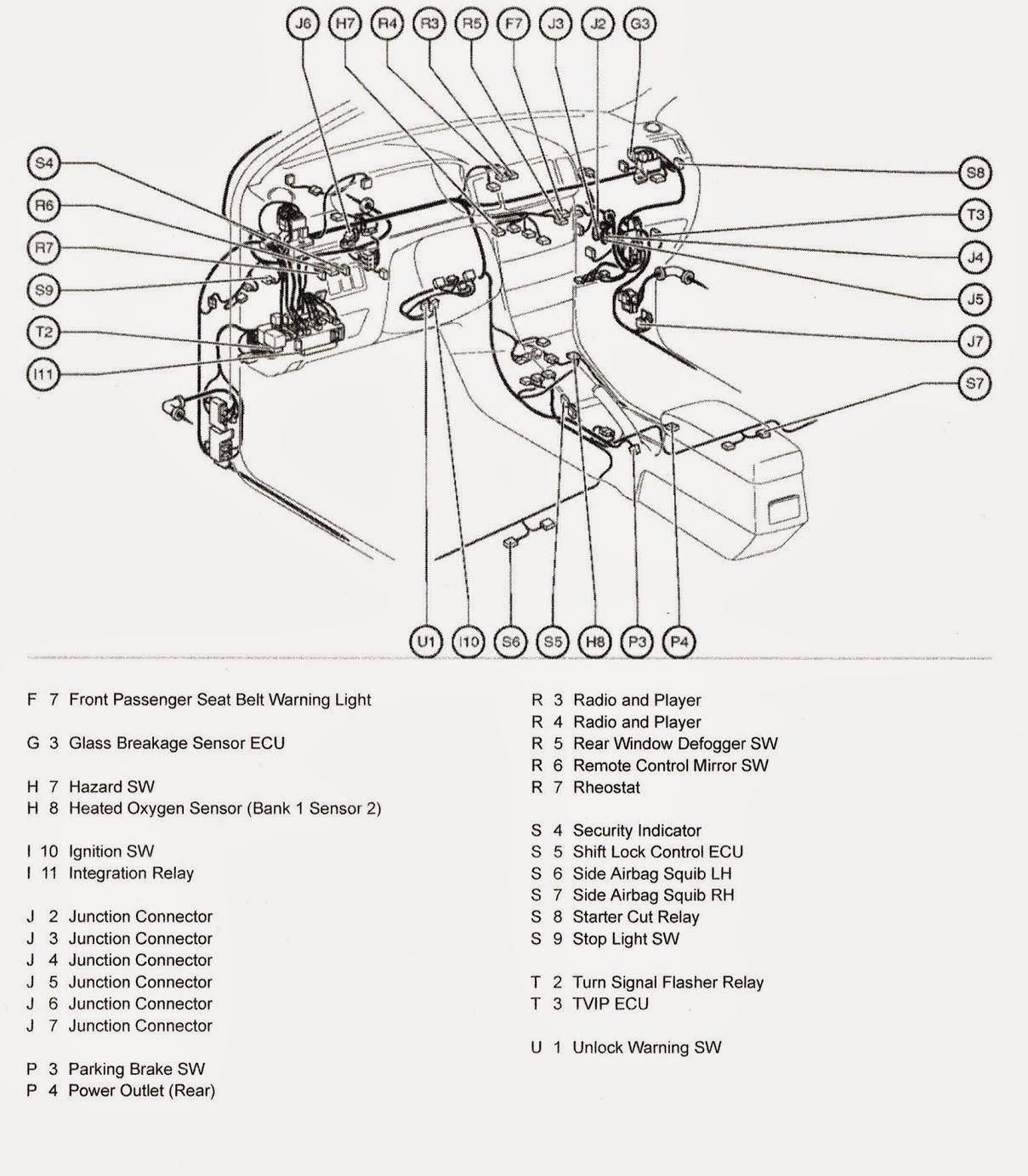 diagrama de cableado de toyota corolla
