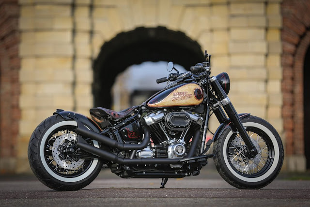 Thunderbike Fyling Slim - A customzed Harley Davidson softtail