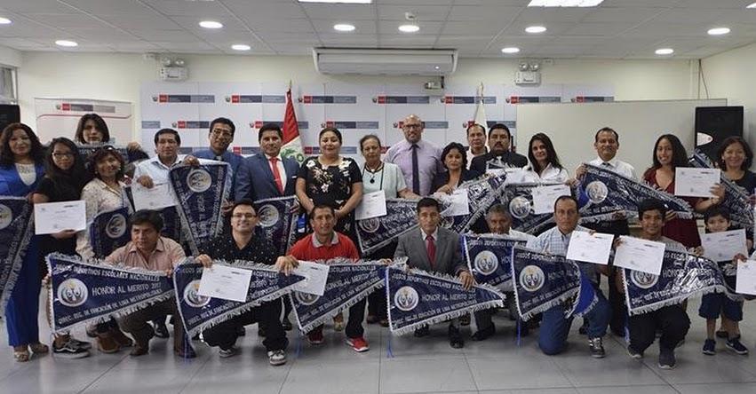 DRELM reconoce a colegios que destacaron en etapa regional de los JDEN 2017 - www.drelm.gob.pe