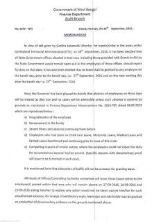 Govt notice regarding Darjeeling Bandh