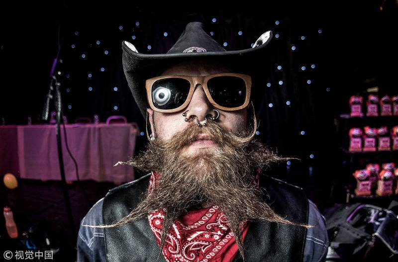 The 5th Beard and Moustache competition was held in UK