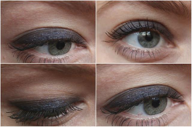 макияж гляз с синими тенями