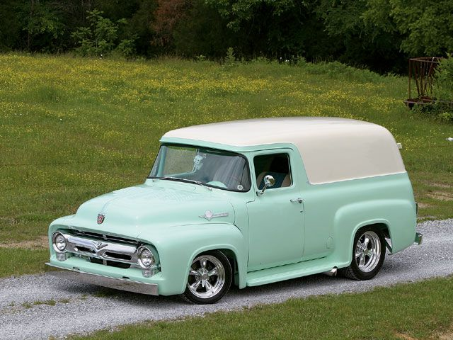 1956 ford f100 panel truck hot rod pictures - Hot Rod Cars