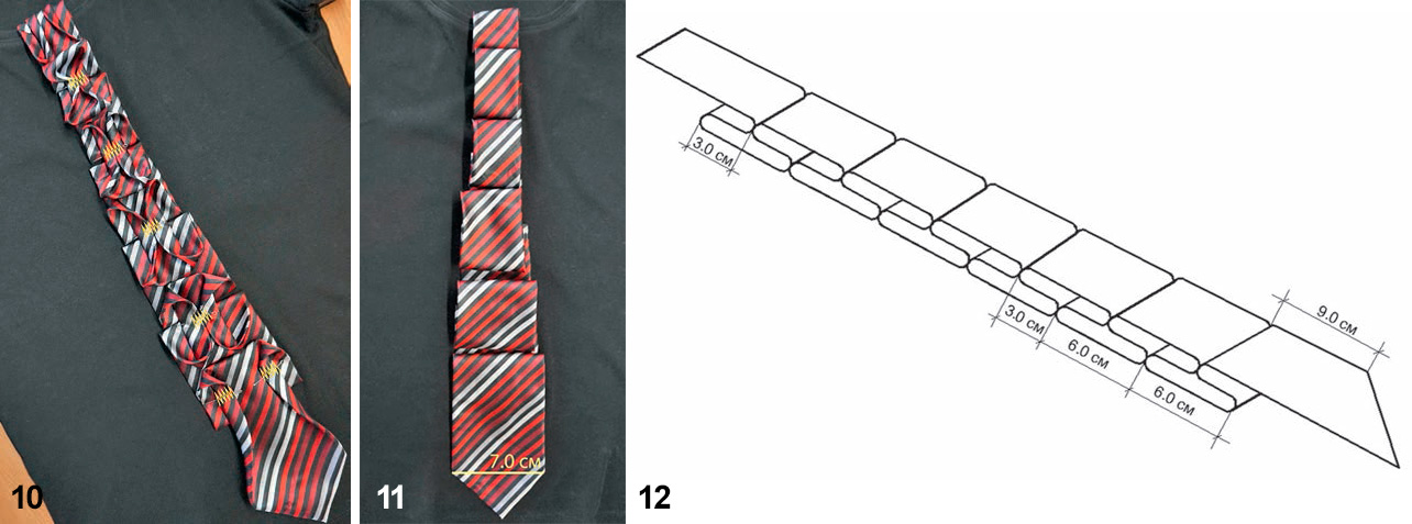 Декор из галстука