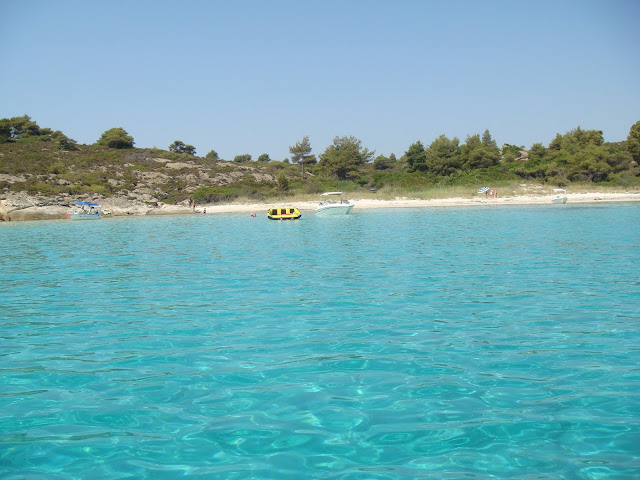 Enchanting colour of sea water at Vourvourou