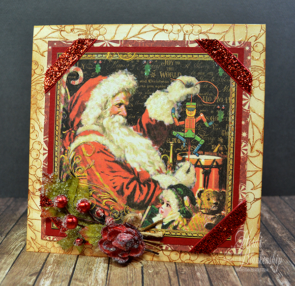 The stamp simply ribbon store graphic 45 st nicholas christmas card