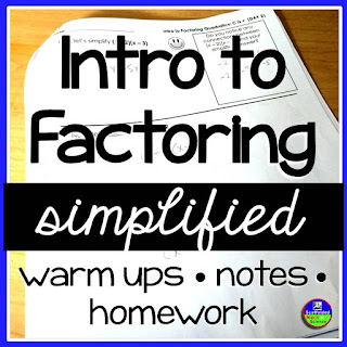 Simplified Factoring