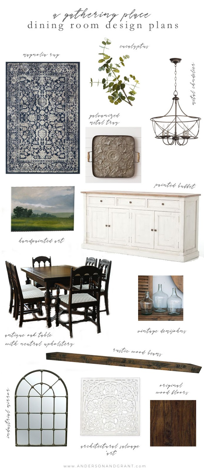 Dining room design plans mood board