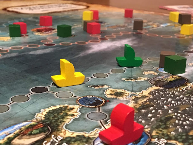 Extraordinary Adventures: Pirates!  Board Game review; photo by Benjamin Kocher
