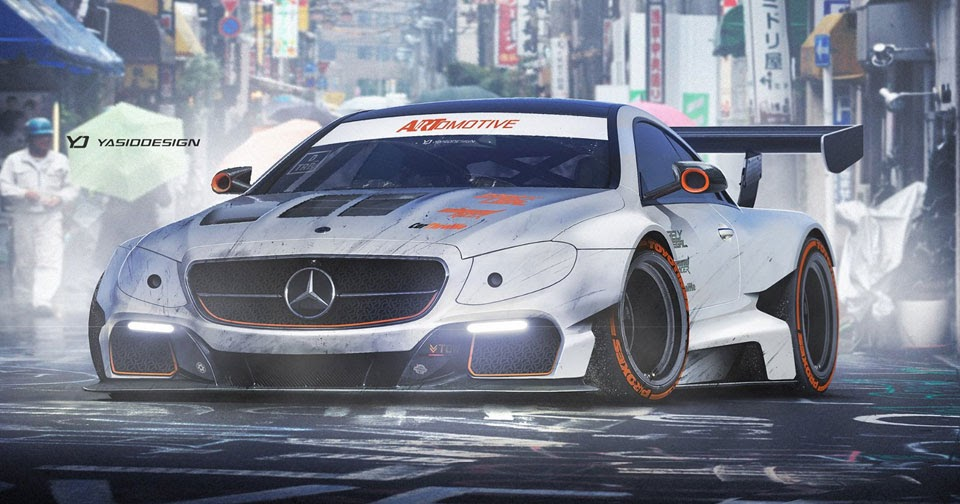 Mercedes-Benz E-Class Coupe Gets Virtual Widebody Treatment