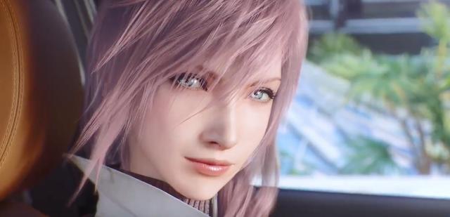 Lightning de Final Fantasy XIII, vendedora de coches Nissan