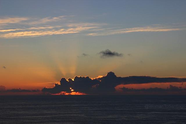 foto de puesta de sol