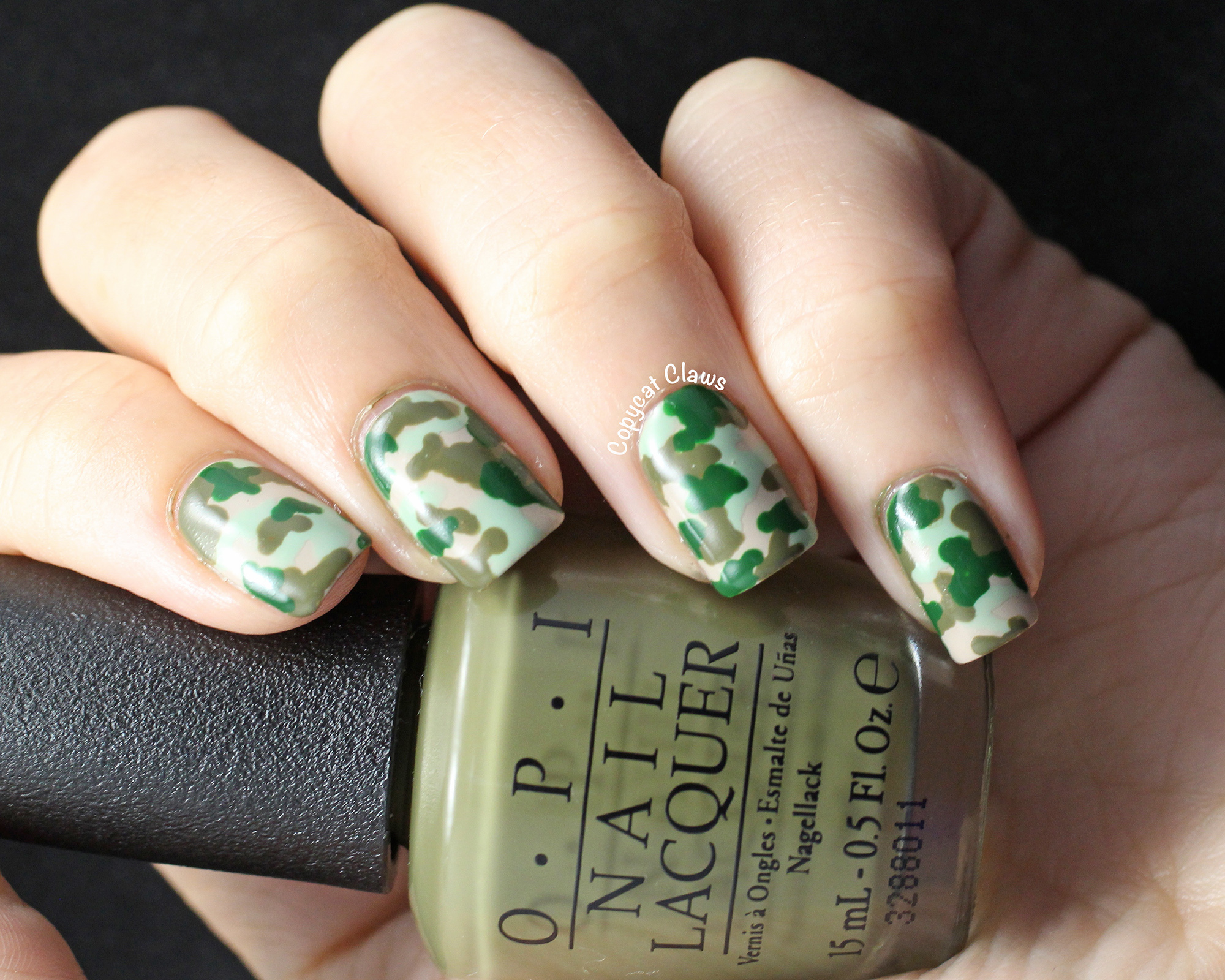 Copycat Claws Camo Nail Art Opi Did You Ear About Van Gogh