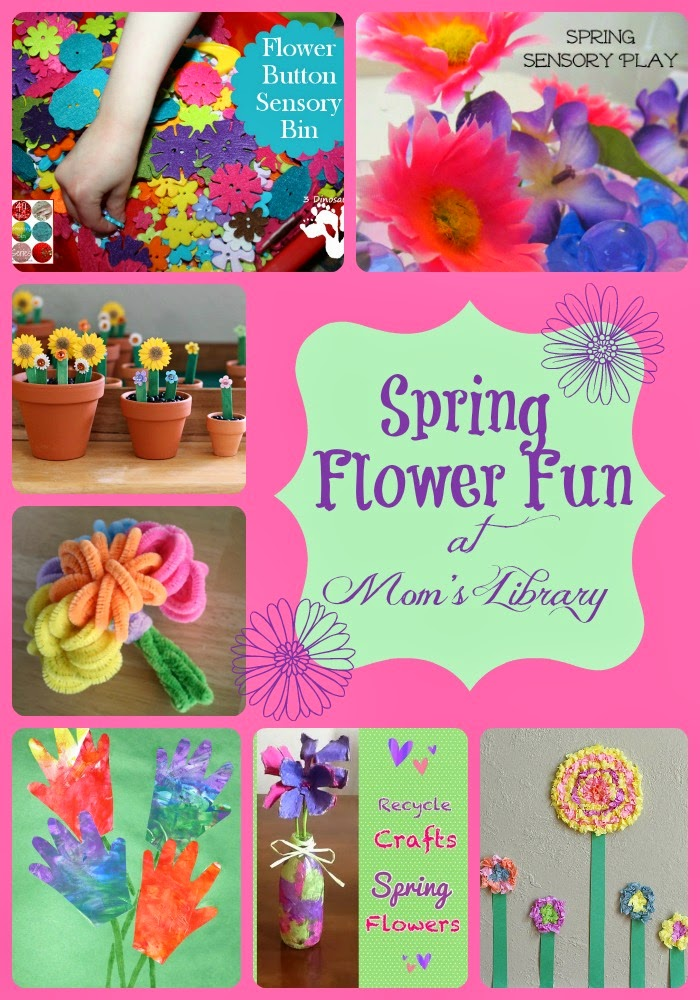 Spring Flower Fun at Mom's Library