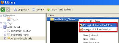 Encrypt/Decrypt all links in the folder