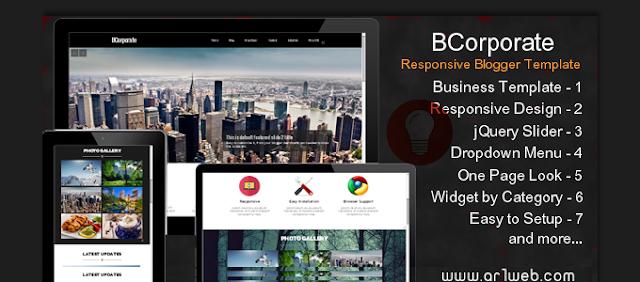قالب بي للشركات والأعمال BCorporate متجاوب سريع لمدونات بلوجر Bco