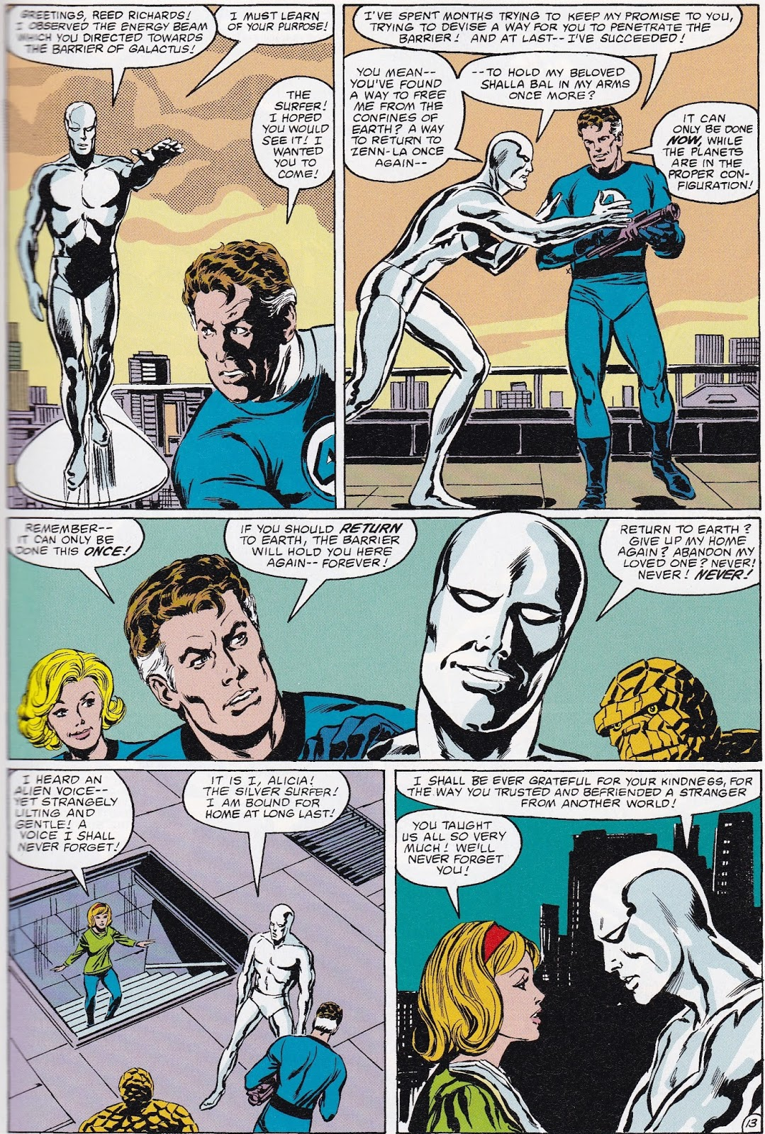Again as I mentioned, the Surfer's origin from Silver Surfer #1 is  recapped, as are his early appearances in the Fantastic Four (circa #s  48-61) and the Dr. ...