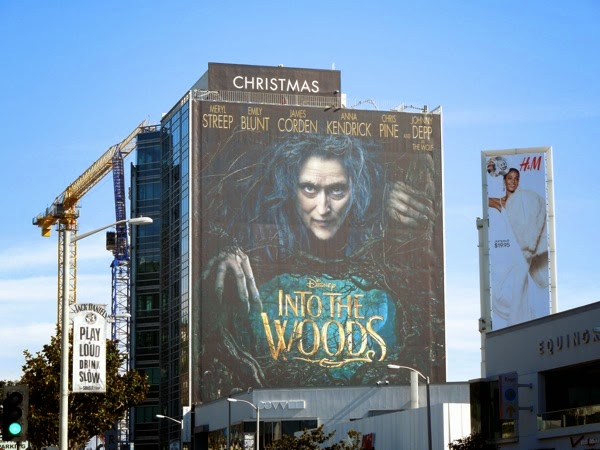 Giant Disney Into the Woods movie billboard