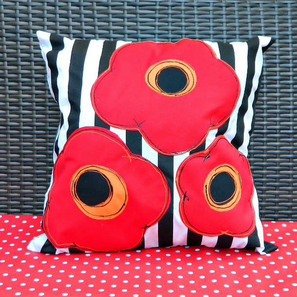 mark montano pretty poppy pillows