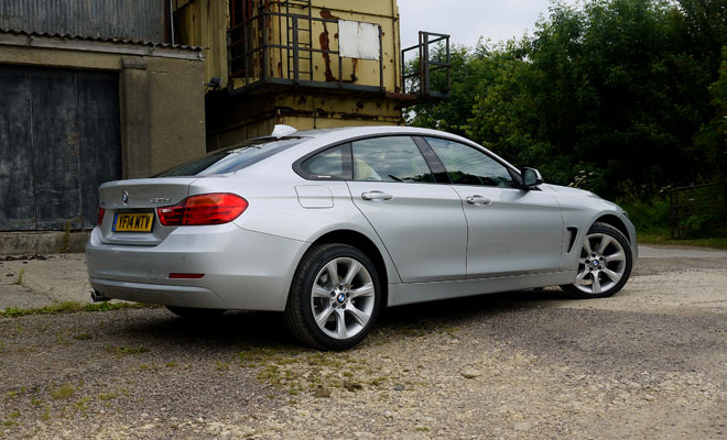 BMW 4-Series Gran Coupe rear side view