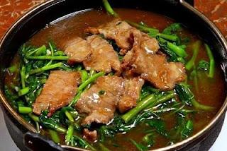 Kangkung Cah Daging Sapi