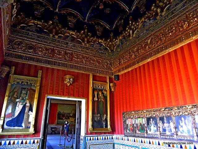 Sala nos aposentos reais do Alcázar de Segóvia