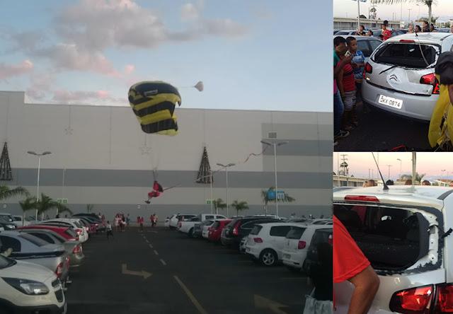 pai natal papai noel paraquedas natal acidente brasil