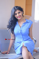 Telugu Actress Mounika UHD Stills in Blue Short Dress at Tik Tak Telugu Movie Audio Launch .COM 0136.JPG