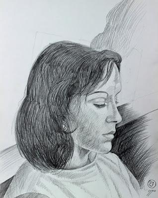 papier, crayon, graphite, Rosanna