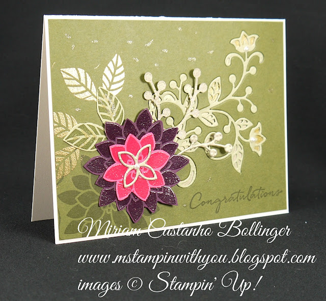 Miriam Castanho-Bollinger, #mstampinwithyou, stampin up, demonstrator, congratulations, flourishing phrases stamp set, flourish thinlits, big shot, heat embossing, wink of stella, su