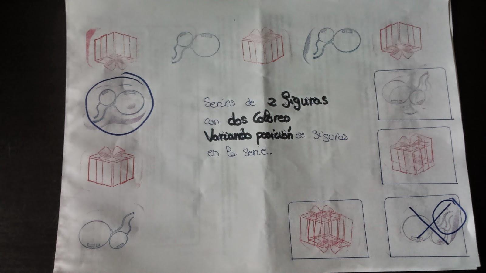 Aprender series con juego de sellos