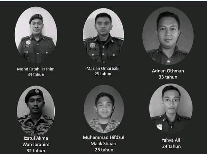 6 Anggota Bomba Terkorban Mati Lemas Mati Syahid