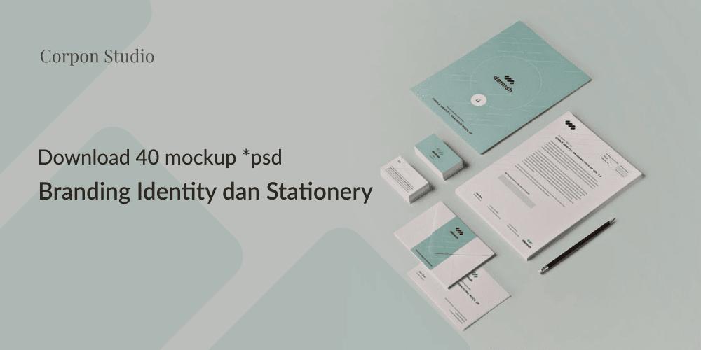 Download Branding Stationery Mockup Gratis Terbaru