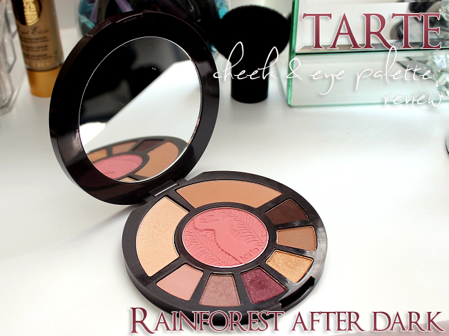 Tarte Cosmetics Rainforest After Dark Cheek and Eye Palette Review & Swatches!