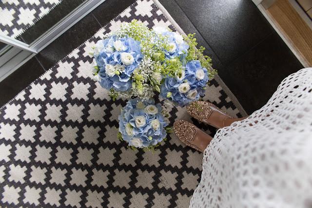 Villa H, kukka-asetelma, ristiäiset, kukkakimput