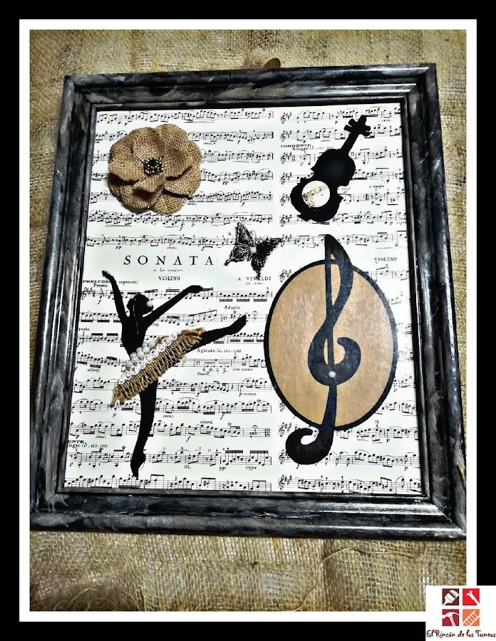 diy cuadro musical