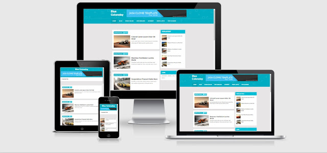 Simple Blue Coloredsy Responsive Blogger Template