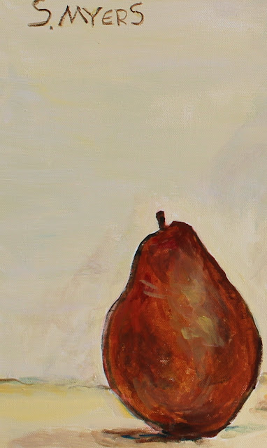 still-life, pineapple, sarah, myers, vase, pear, oranges, acrylic, painting, fruit, ceramic, exuberant, amy, myers, canvas, large, shapes, round, earthenware, terracotta, contemporary, art, arte, kunst, pintura, maleri, natura, morte, figurative, classical, representative, bright, detail, red, close-up